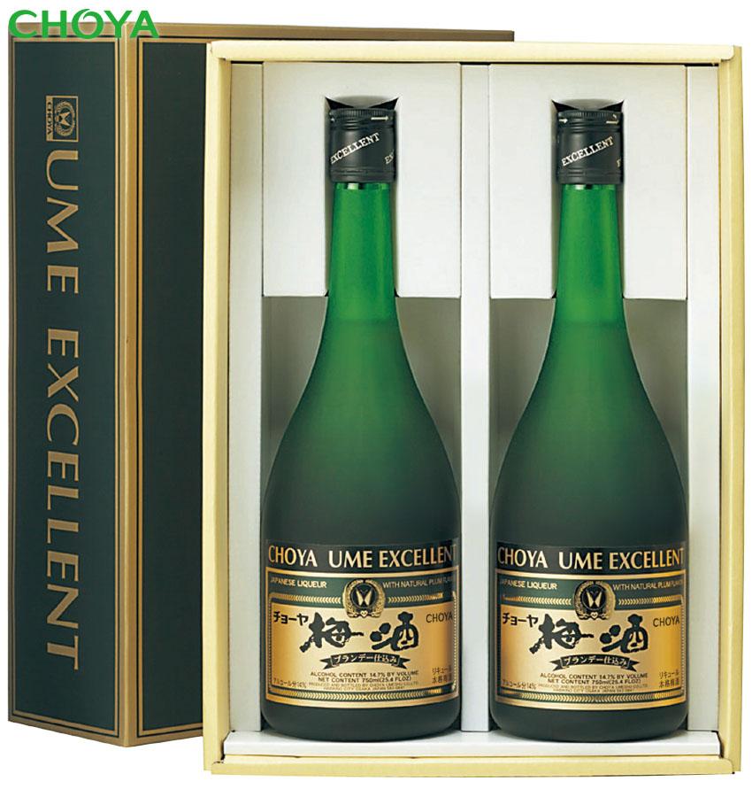 画像1: チョーヤ 梅酒エクセレント×2本セット(750ml×2本) (1)