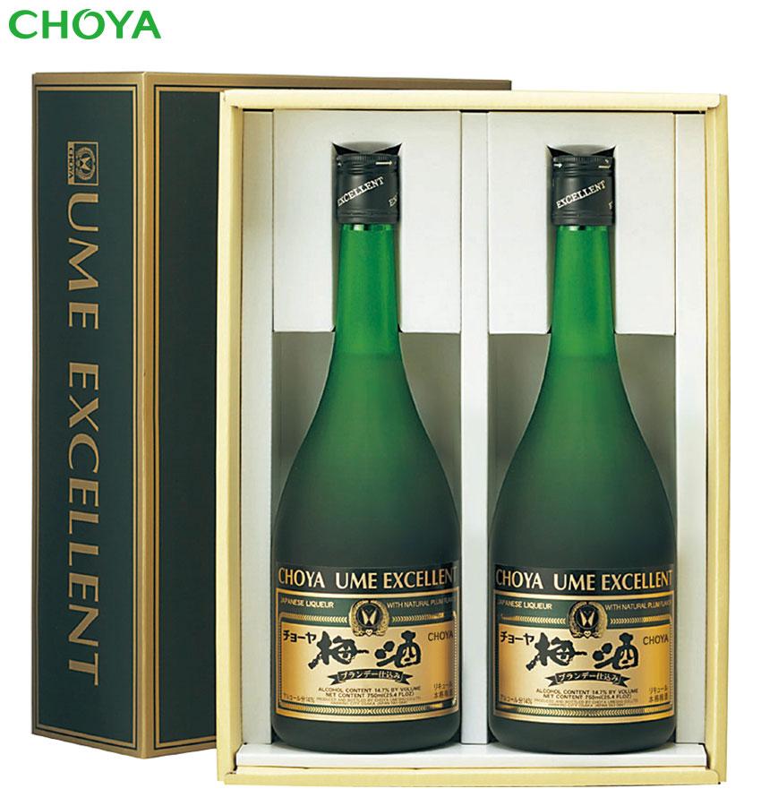 画像1: チョーヤ 本格梅酒 『 エクセレント 』 ギフトセット (1)