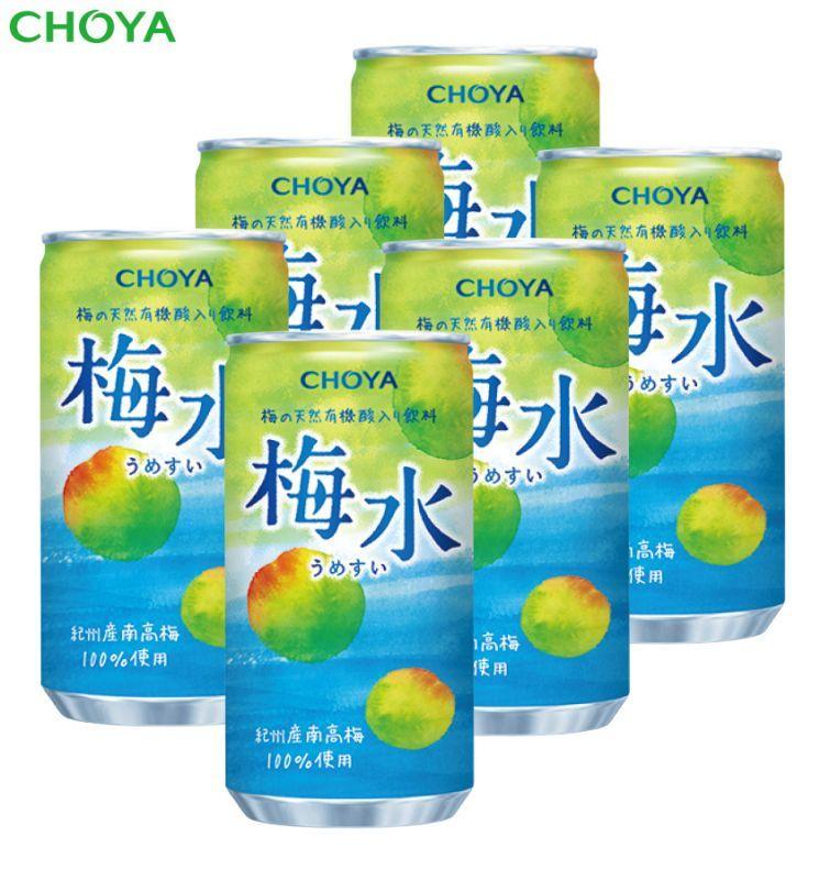 画像1: チョーヤ 梅ドリンク 『 【数量限定】 梅水(うめすい) 190g  6本入り 』  10%未満紀州産完熟南高梅入り飲料 無添加 (1)